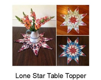 Christmas Lone Star Table Topper - PDF pattern