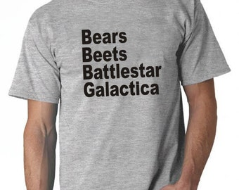 Bears Beets Battlestar Galactica The Office TV show Comedy Funny Mens T SHIRT Fun  schrute farms tee shirt By FavoriTee