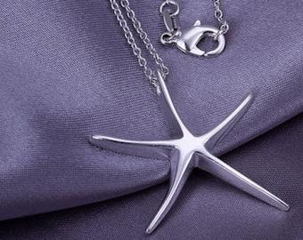 Silver .925 Starfish Pendant Necklace