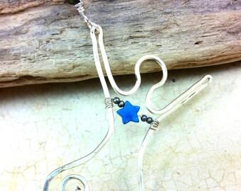 Joyful Goddess Necklace Handmade with Spirals on Leather Cord