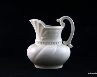 """Lenox Giftware """"Colonial"""" Pattern Pitcher with Early Blue Mark - Vintage 1930s 1940s Lenox China"""