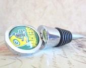 Wine Bottle Stopper - Green Bay Packers Green & Yellow Wine Stopper
