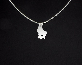 Luxembourg Necklace - Luxembourg Jewelry - Luxembourg Gift