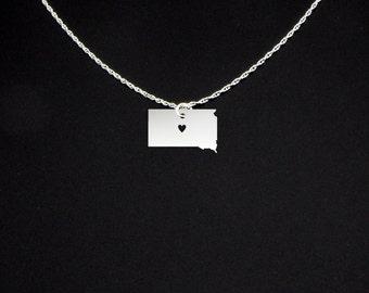 South Dakota Necklace - South Dakota Jewelry - South Dakota Gift