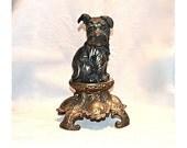 Nuart 'I Hear You' Pup on Base, Vintage 1920s Large Ten Inch