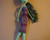 Monster High multicolored knitted dress