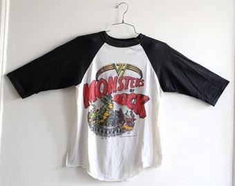Super Rare 1988 Van Halen 'Monsters of Rock' Tour Soft Thin Baseball Tee