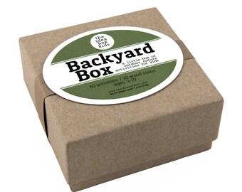 Backyard Box, Outdoor Nature Activities for Kids, Kids Outdoor Activities, Kids Nature Activities, Gardening for Kids, Outdoor Play for Kids