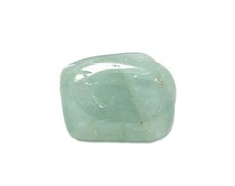 Aqua Green Beryl Gemstone, Tumble Polished Gem Stone, Charm Talisman, March Birthstone Loose Unset Precious Jewel, DIY Craft Jewelry making