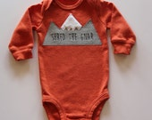 Snowboard Baby Bodysuit, Shred The Gnar, Mountain Bodysuit, Baby Mountain Shirt, Colorado Baby, Snowboarding Baby, Adventure Baby