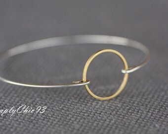 Harmony and Protection, Infinity Message Bangles, Mixed Metal, Circle, Round, Gold and Silver,Abstract shapes,Geometric Jewelry,Yoga Bangles