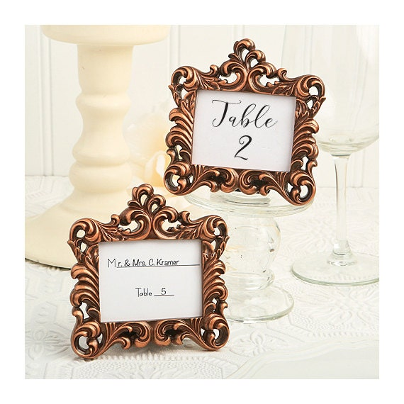 Place Card Holder Frames Set Of 5 Small Copper Picture Frame