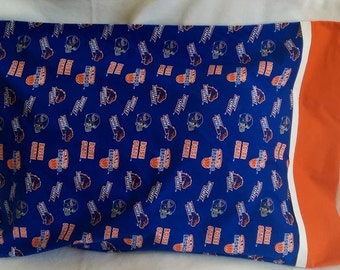 Standard Size Pillowcase - BSU - Boise State University - Blue and Orange - Basketball, Football 2