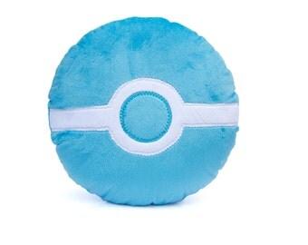 Pokemon (Domestic/USA) Go Inspired Team Mystic Geeky Decorative Pillow