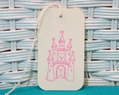 Handmade Set of 6 Castle Tags