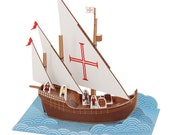 Caravel Paper Toy - DIY Paper Craft Kit - Paper Toy - Action Toy