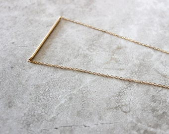 Bar Necklace, Simple Necklace, Modern Necklace, Layering Necklace