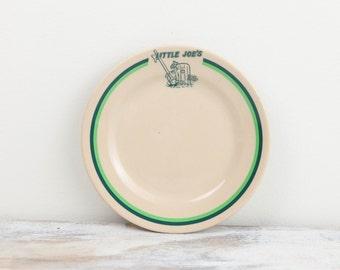 Vintage Little Joe's Restaurant ware Dessert / Salad Plate, TEPCO, USA, China