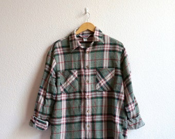 VTG Men's Plaid Shirt L