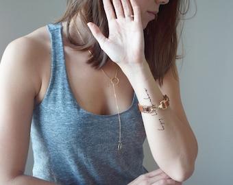 Custom Handwritten Messy Modern Script Tattoo Design