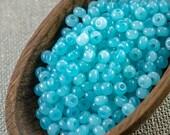 20g 6/0 seed beads Czech seed beads Czech rocailles 6/0 seed beads Sea Foam Blue Coated Pony beads NR 322 last