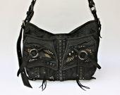 Leather Bag, Side Leather Bag, Studded Leather Bag, Hand Bag, Tote Bag