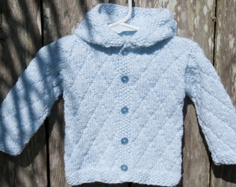 knit bay sweater, baby boys sweater, baby boy hoodie, baby shower gift, baby boy