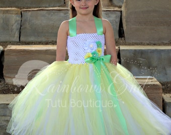 Spring Daffodil Couture Flower Girl  Tutu Dress sizes 2t - 7