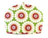 Teapot Cozy, Bold Flowers, Dome Shape Fabric Tea Cozy, Fits 6 to 8 Cup Size Tea Pot, Handmade Cozy by RedLeafStitchCraft