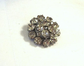 Vintage Rhinestone Brooch  - Rhinestone Wedding Jewelry - Mid Century Retro Pin