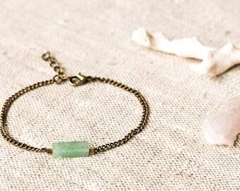 Simple Minimalistic Bracelet - Aventurine Column