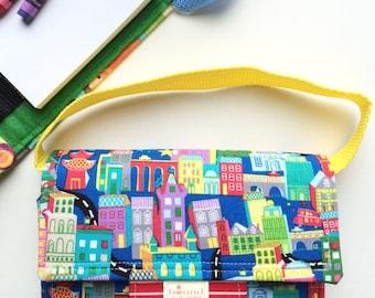 Creative Kids Crayon Case - Kids Carry Crayon Case - Kids Art Tote Gift - Tri-fold Crayon Art Tote - Travel Art Tote for Kids - Coloring