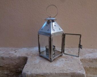 Hurricane lantern, Greek fanaraki, galvanized lantern, outdoor lamp, oil lamp, patio lighting, rustic lantern, industrial, made in Greece