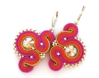 Soutache earrings - colorful earrings - gift for girlfriend - gift for wife - wholesale jewelry - wholesale earrings birthday gift daughter