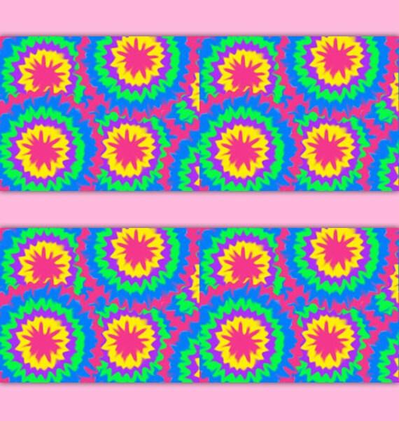 TIE DYE BORDER Wallpaper Rainbow Wall Art Decal Teen Girl Stickers Abstract  Modern Room Decor Multicolor. TIE DYE BORDER Wallpaper Rainbow Wall Art Decal Teen Girl