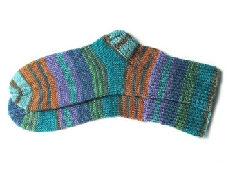 Colorful hand knit socks for women, knit socks, wool socks women