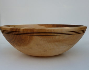 Wood Bowl Maple Wooden Bowl Handmade Salad Bowl