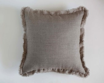 Bedding linens - custom size decorative pillow - ruffled pillow - accent pillow cover - linens for bedding- 0410