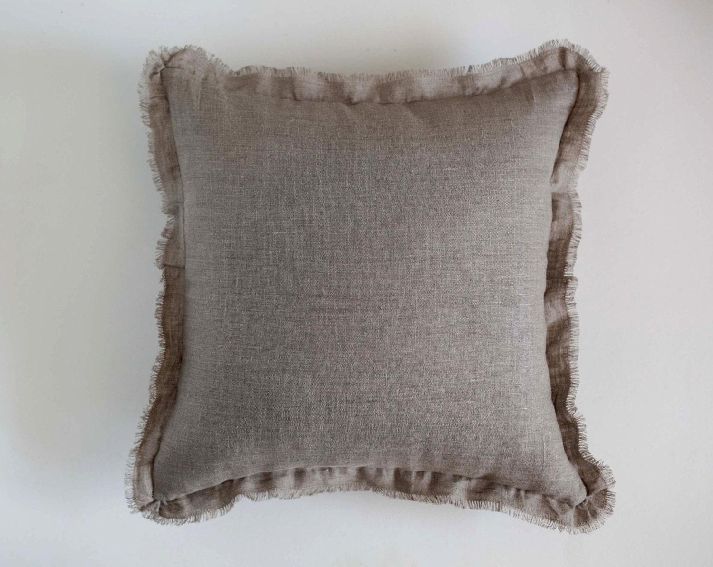 Throw pillow with rough edge custom size decorative pillow