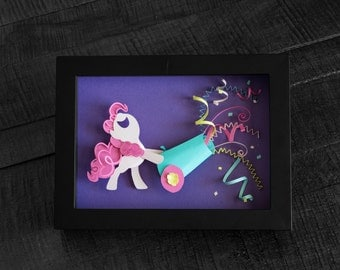 My Little Pony - Pinkie Pie Party Cannon - Shadow Box