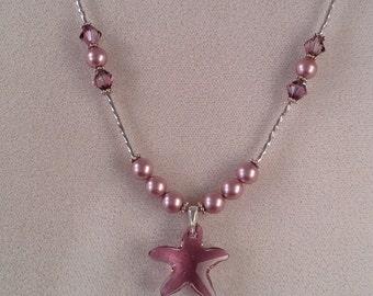 Swarovski starfish pendant necklace