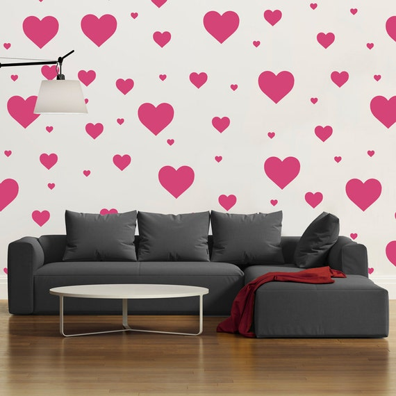 Show Some Love To Your Walls With These Multi Size Heart Decals. The Hearts  Come As Separate Pieces So You Can ...