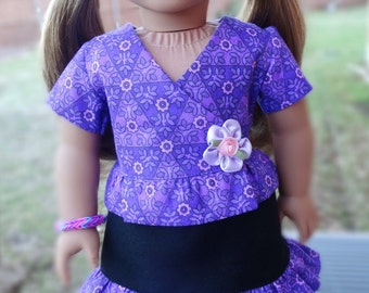 """18"""" Doll Clothes Casual Purple Outfit Fits American Girl Lea Clark"""