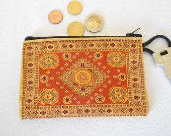 Kilim purse, Kilim rug purse, Ethnic purse, Carpet bag, Anatolian Motifs, Fabric Wallet, Exotic Fabric Pouch, Wedding Gift