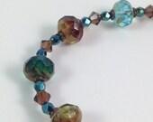 Heaven and Earth Czech Glass Bracelet