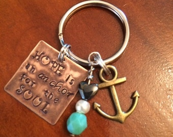 Hope Is An Anchor For The Soul Keychain