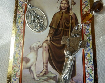 St. Roc,Roch,Rocco,Rock/St. of Dogs/Rollox/Rochus Chaplet Rosary Rosarie,knee problems,dogs,invalids,surgeons,skin diseases,bachelors