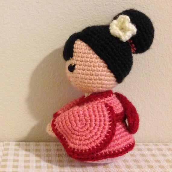 Amigurumi Female Body : Amigurumi Crochet Doll Pattern - Japanese Kimono Doll ...
