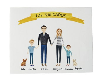 custom family portrait 8 x 10