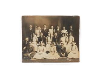 1911 St Louis School Graduation Photograph from Block's Studio Louis Block
